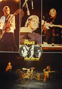 Police World Tour 1980 POSTER 121123