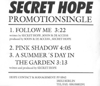 Secret Hope Follow Me - Promo MCD 563861