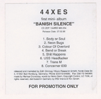 44XES Banish Silence (Promo) CD 581645