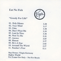Eat No Fish Greedy For Life - Promo CD 582048